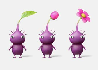 three little purple creatures