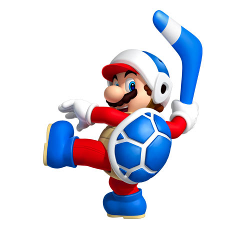 mario dressed as a mushroom throwing a boomerang