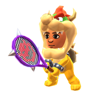 mii wearing a bowzer costume