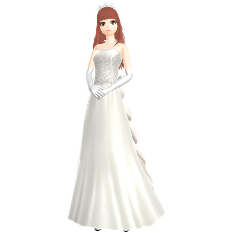 a girl wearing a wedding dress
