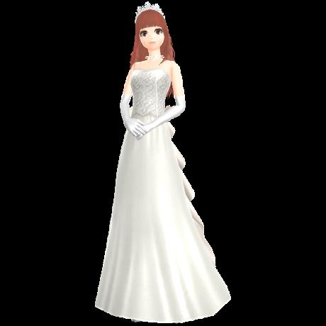 a girl wearing a wedding dress