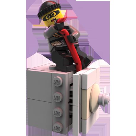 burglar with a fire hose