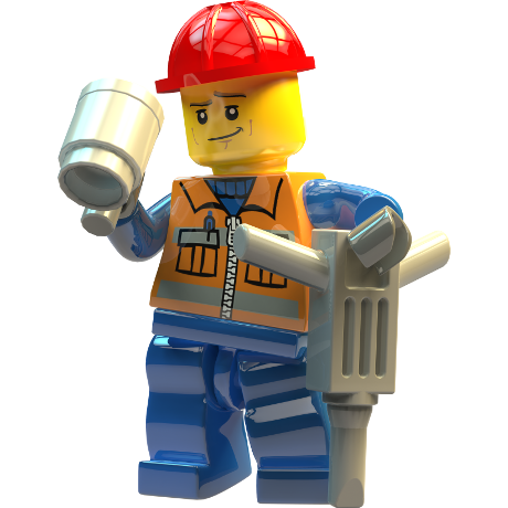 builder enjoying a cup of tea