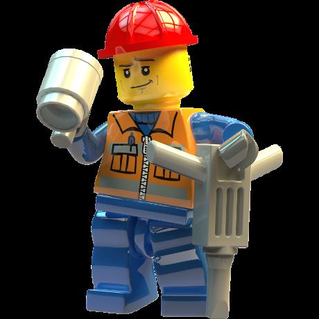builder enjoying a cup of tea