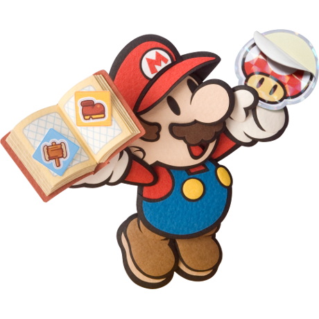 mario with a sticker