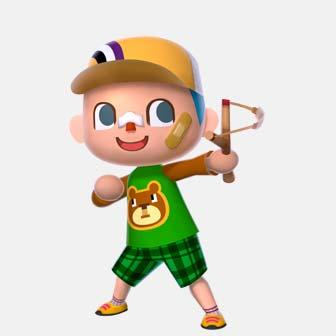 boy holding a sling shot