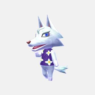 white wolf dressed up