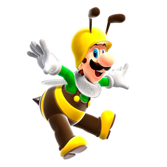 luigi dressed as a bumble bee