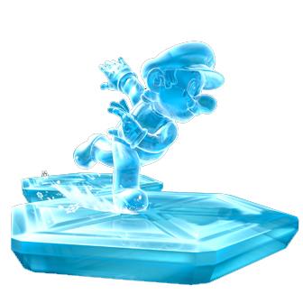 iced mario running