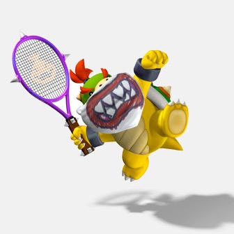bowzer playing tennis