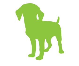 green silhouette