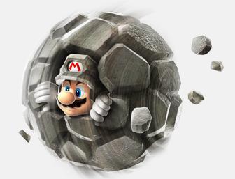 mario in a rock