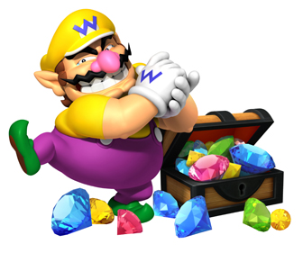 wario with his treasure