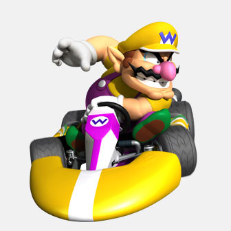 wario in a kart