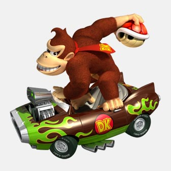 donkey kong in a kart
