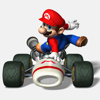mario in a kart
