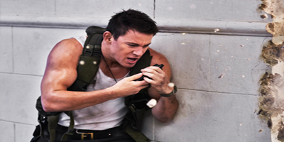 Channing Tatum talking into a phone