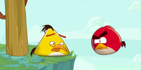 Red and Yellow angry Birds