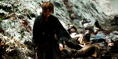 Dead Bodies Lying on the Floor Behind Kenshin