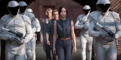 Katniss, Peeta and Haymitch Being Escorted