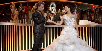Katniss and Caesar Flickerman