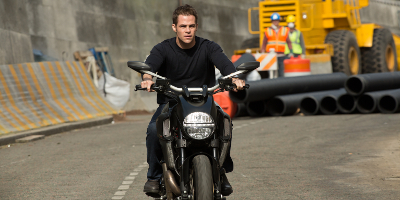 Jack Ryan on MotorCycle