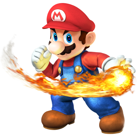 Mario with fireball
