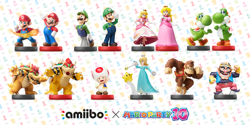 Mario Party 10 Amiibo Pack Mario Bowser Toad Yoshi