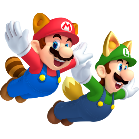mario and luigi flying