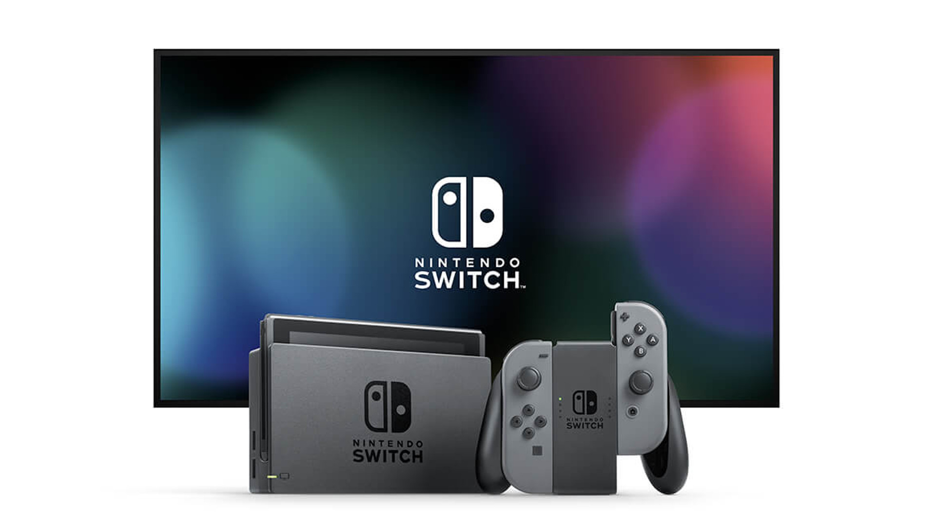 nintendo switch console with grey joy con my geek box. Black Bedroom Furniture Sets. Home Design Ideas
