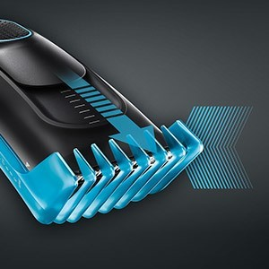 One dedicated comb. For 9 precise length settings.