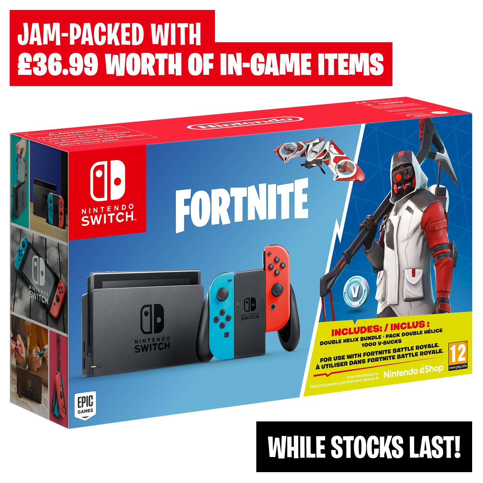 Nintendo Switch Limited Edition Fortnite Bundle Incl 1000 V Bucks Double Helix Bundle Nintendo Official Uk Store