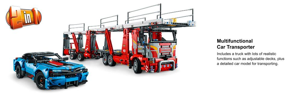 car transporter and car