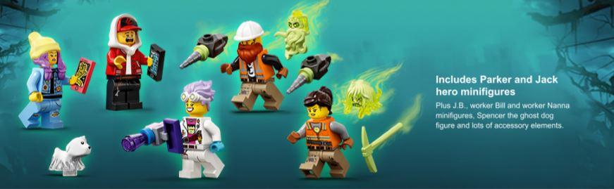 closeup of minifigures
