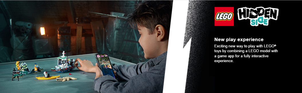 two children playing with model on the app