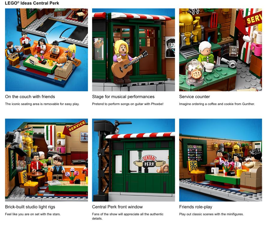 Close up shots of Friends LEGO set
