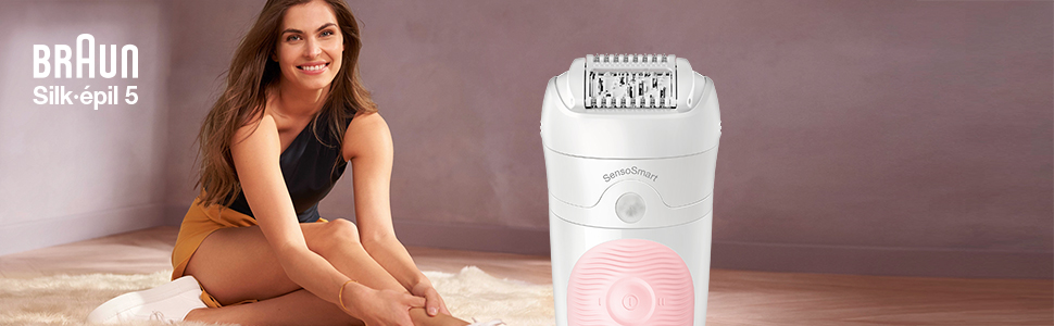 Silk-épil 5 Flex Epilator, Woman Shaving
