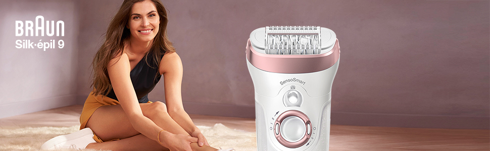 Silk-épil 9 Flex Epilator, Woman Shaving