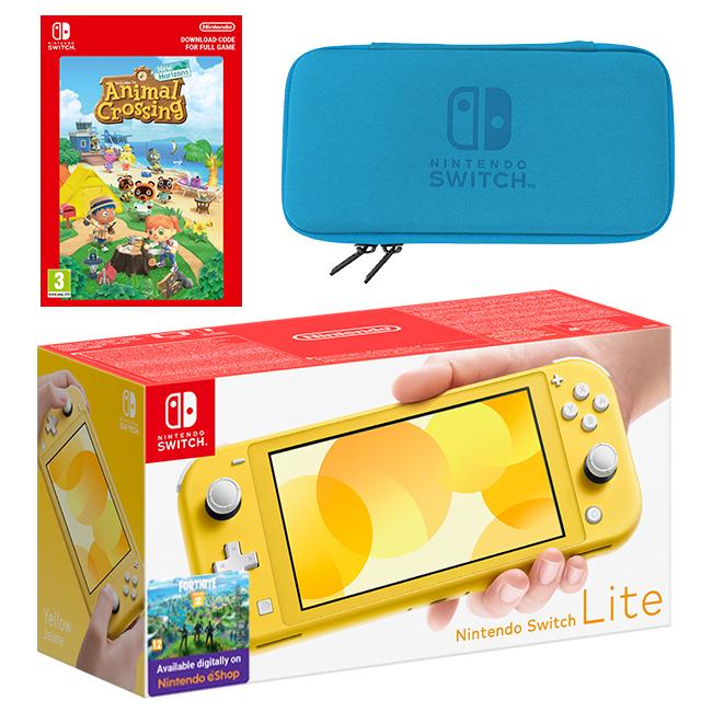 Nintendo Switch Lite (Yellow) Animal Crossing: New ...