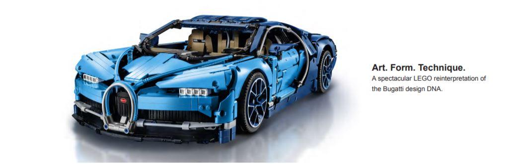 close up of bugatti lego figure