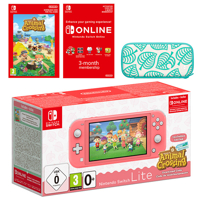 Nintendo Switch Lite (Coral) + Animal Crossing: New ...