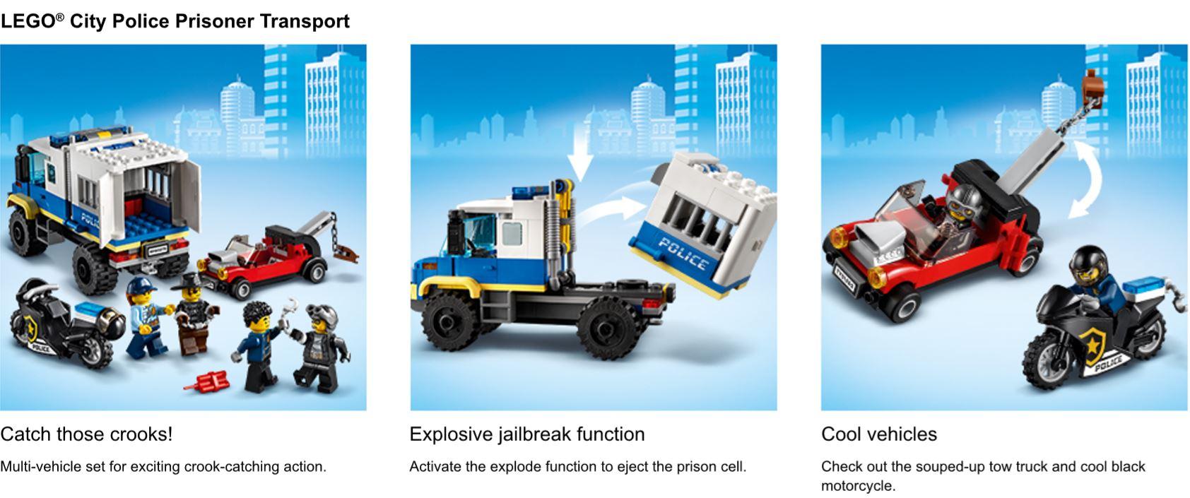 Police prisoner transport set with minifigures