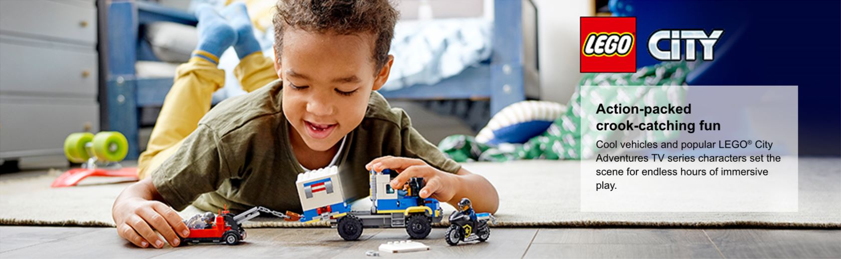 Boy playing with set
