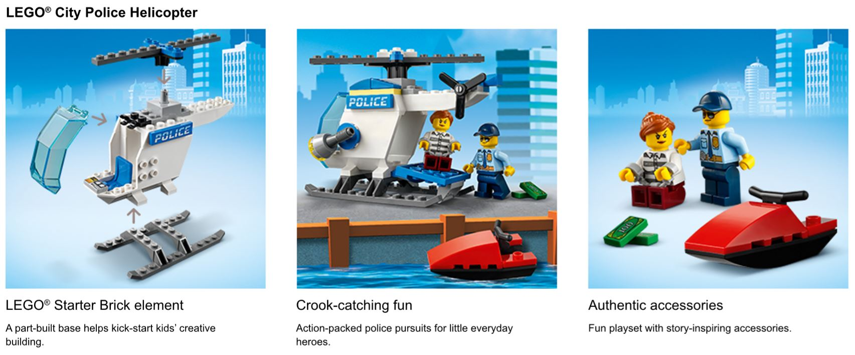 Police helicopter set