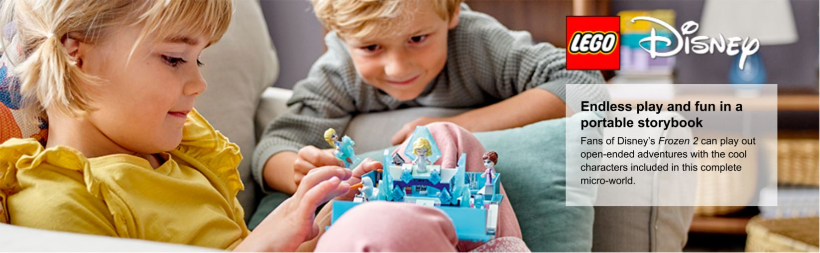 children playing with frozen set