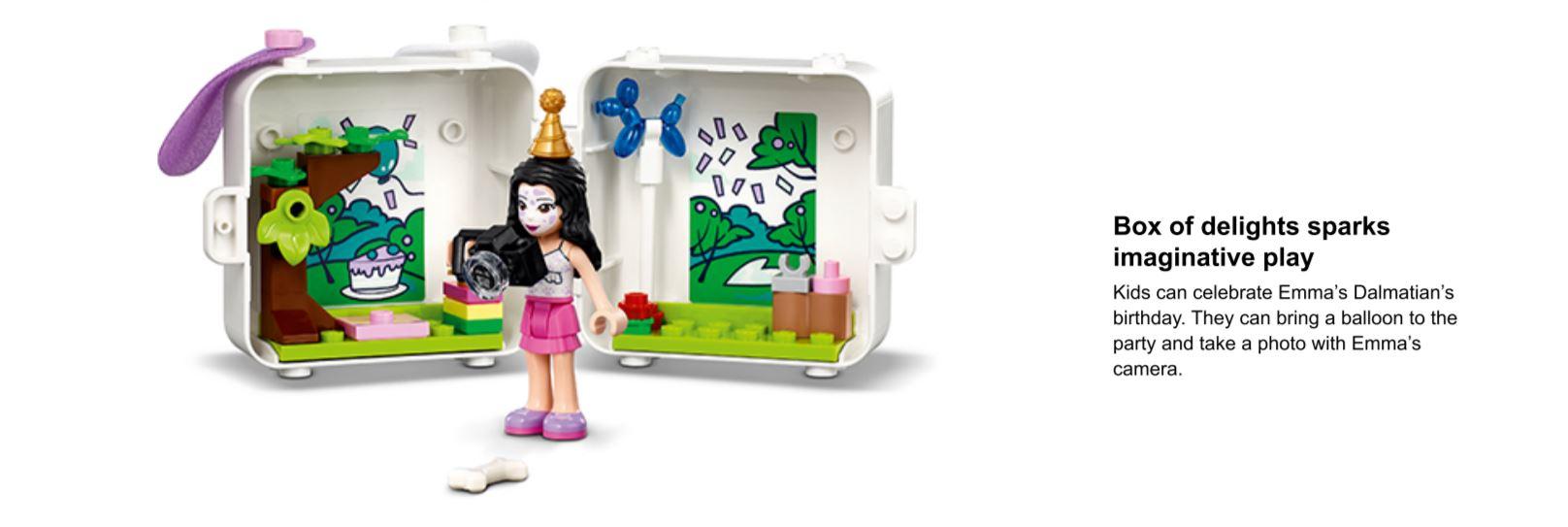 opened lego cube set