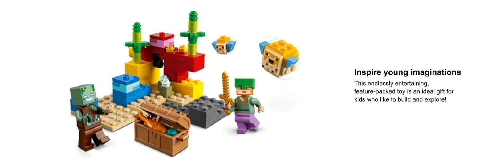 lego minecraft coral reef set