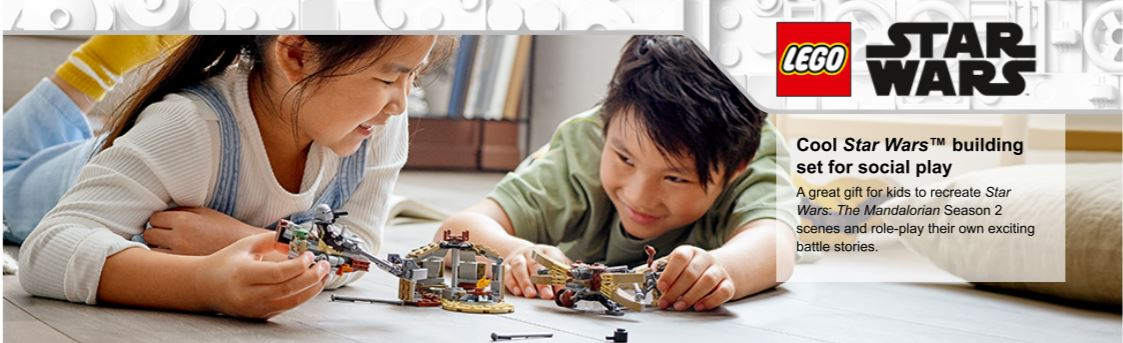 children playing with star wars set
