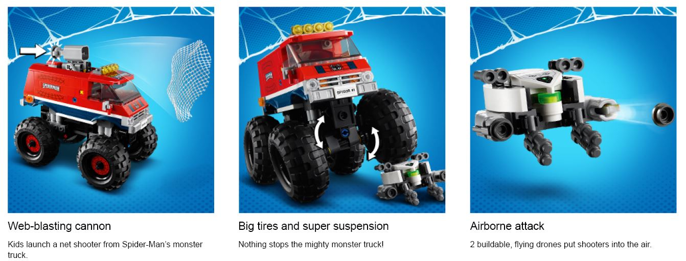 Lego spiderman truck action shots