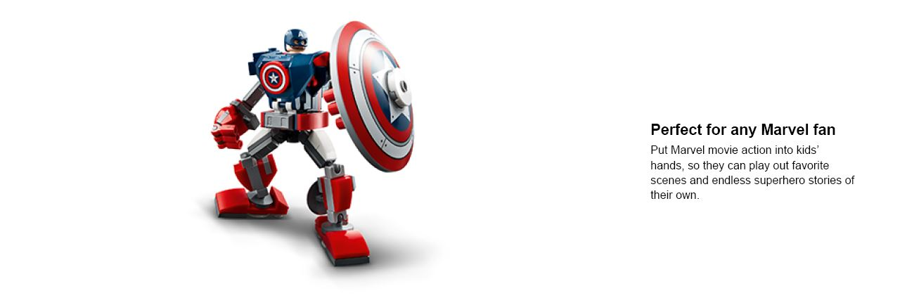 captin america lego action stance